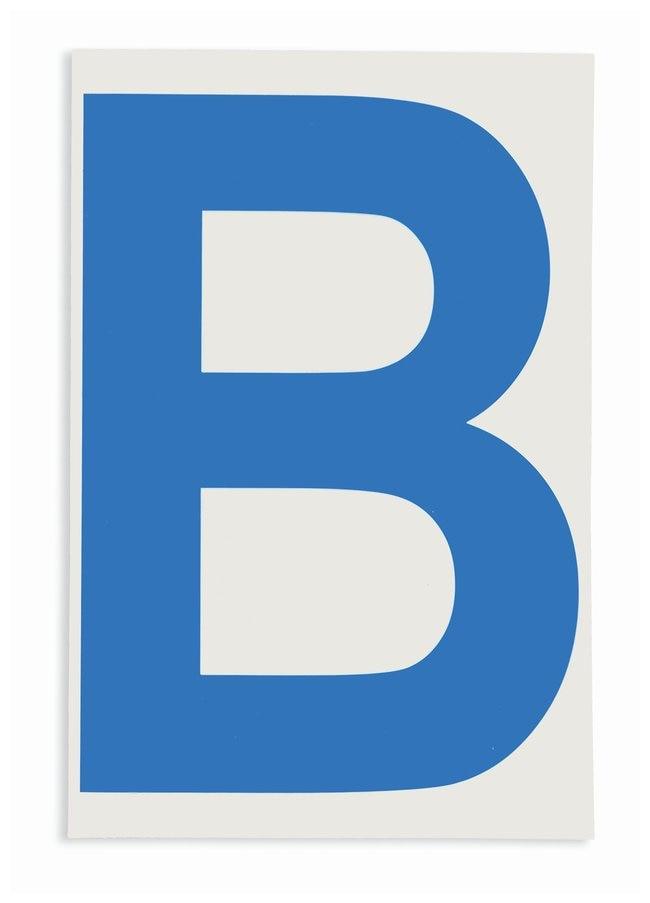 Brady ToughStripe Die-Cut Floor Marking Letter B Color: Blue:Racks, Boxes,