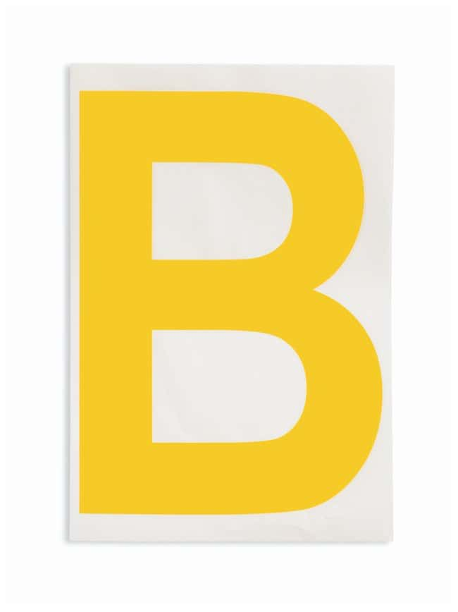 Brady ToughStripe Die-Cut Floor Marking Letter B Color: Yellow:Racks, Boxes,