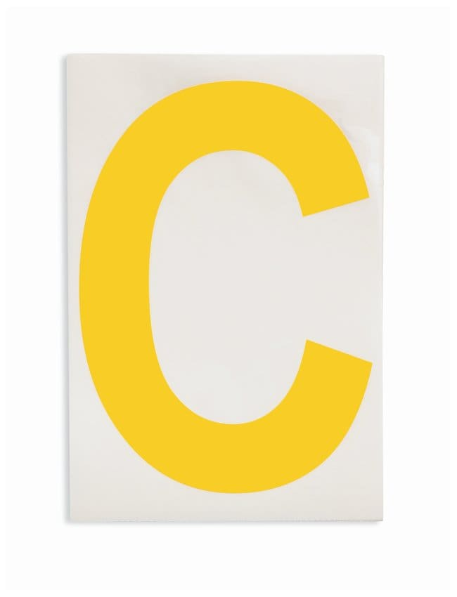 Brady ToughStripe Die-Cut Floor Marking Letter C Color: Yellow:Racks, Boxes,