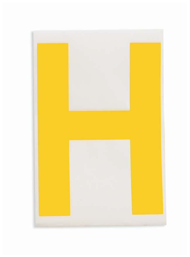 Brady ToughStripe Die-Cut Floor Marking Letter H Color: Yellow:Racks, Boxes,