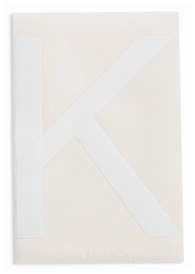 Brady ToughStripe Die-Cut Floor Marking Letter K Color: White:Racks, Boxes,