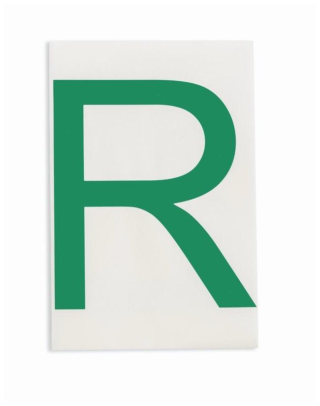 Brady ToughStripe Die-Cut Floor Marking Letter R Color: Green:Racks, Boxes,