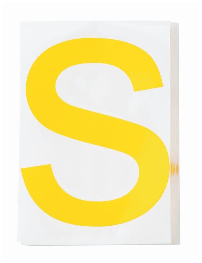 Brady ToughStripe Die-Cut Floor Marking Letter S:Racks, Boxes, Labeling