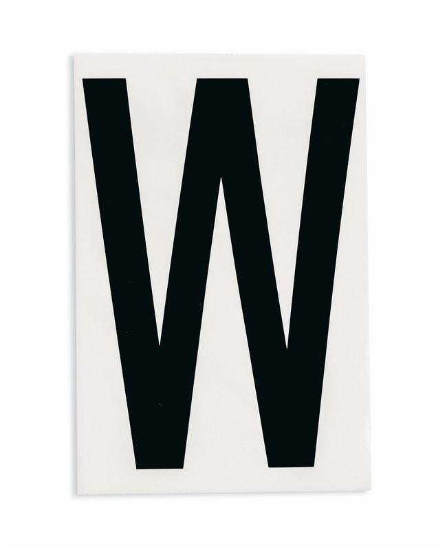 Brady ToughStripe Die-Cut Floor Marking Letter W Color: Black:Racks, Boxes,