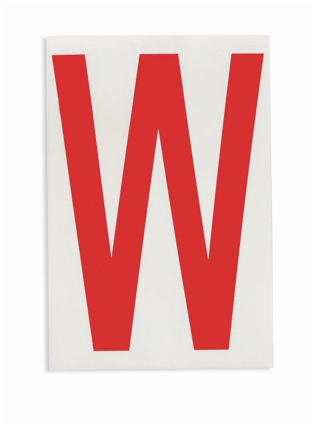 Brady ToughStripe Die-Cut Floor Marking Letter W Color: Red:Racks, Boxes,