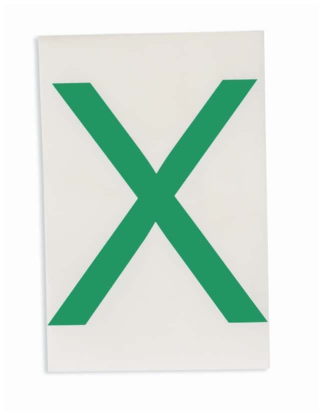 Brady ToughStripe Die-Cut Floor Marking Letter X Color: Green:Racks, Boxes,