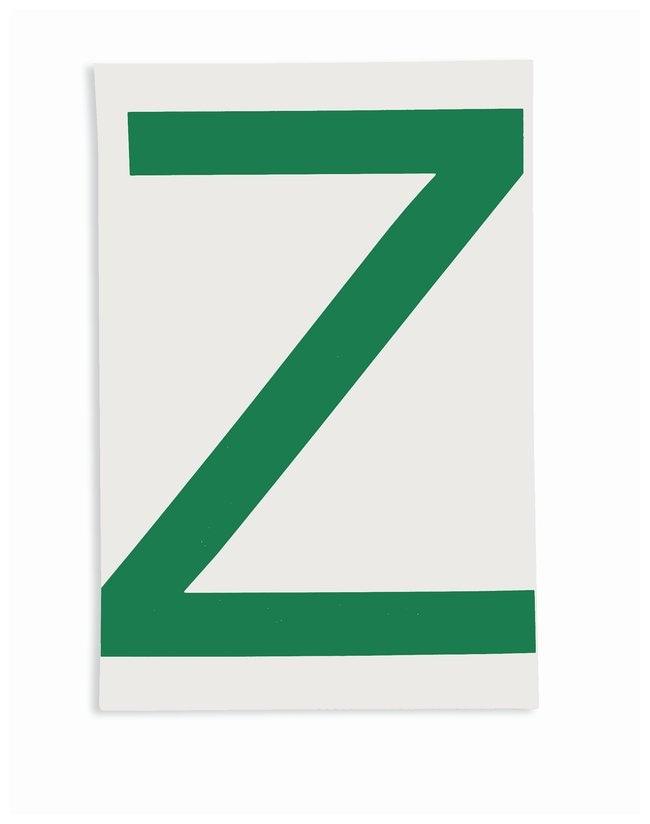 Brady ToughStripe Die-Cut Floor Marking Letter Z Color: Green:Racks, Boxes,