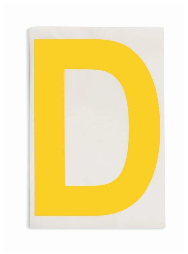 Brady ToughStripe Die-Cut Floor Marking Letter D Color: Yellow:Racks, Boxes,