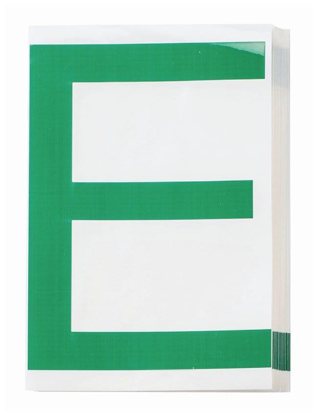 Brady ToughStripe Die-Cut Floor Marking Letter E Color: Green:Racks, Boxes,