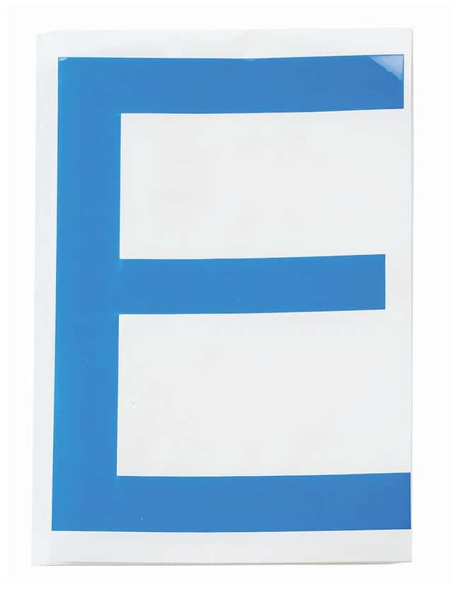 Brady ToughStripe Die-Cut Floor Marking Letter E Color: Blue:Racks, Boxes,