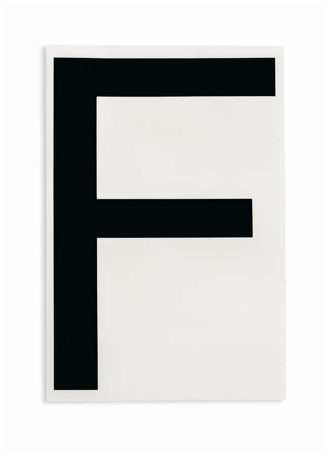 Brady ToughStripe Die-Cut Floor Marking Letter F Color: Black:Racks, Boxes,
