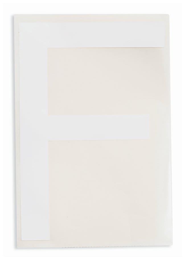 Brady ToughStripe Die-Cut Floor Marking Letter F Color: White:Racks, Boxes,