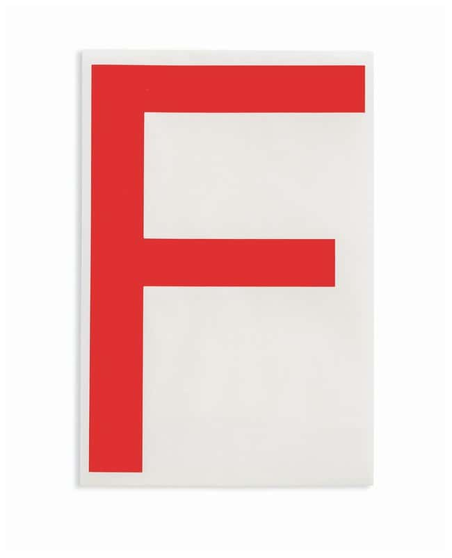 Brady ToughStripe Die-Cut Floor Marking Letter F Color: Red:Racks, Boxes,