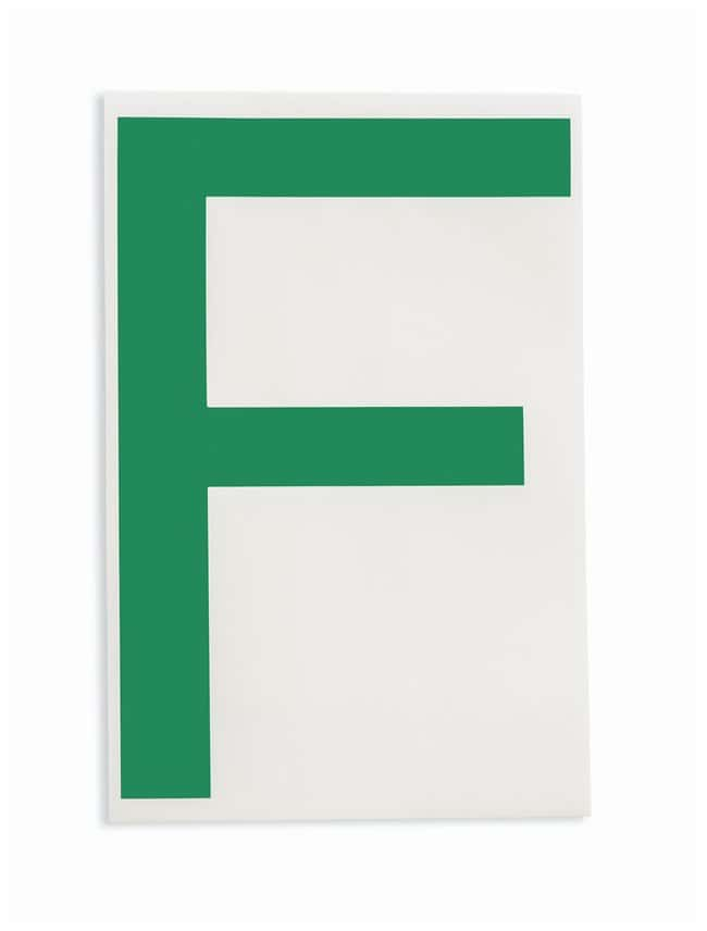 Brady ToughStripe Die-Cut Floor Marking Letter F Color: Green:Racks, Boxes,