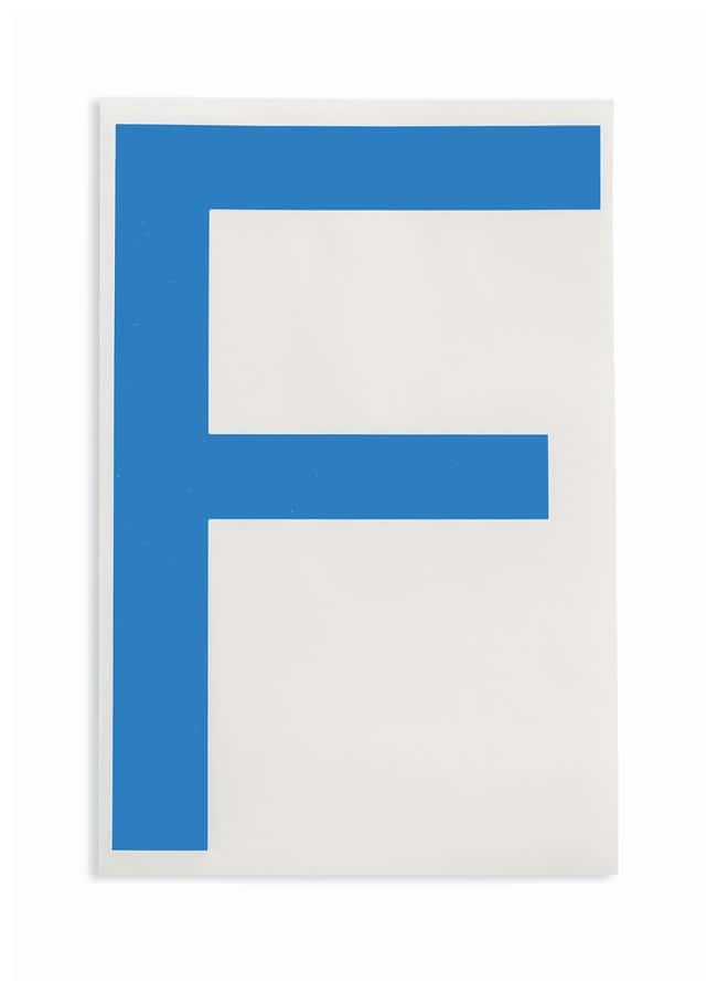 Brady ToughStripe Die-Cut Floor Marking Letter F Color: Blue:Racks, Boxes,