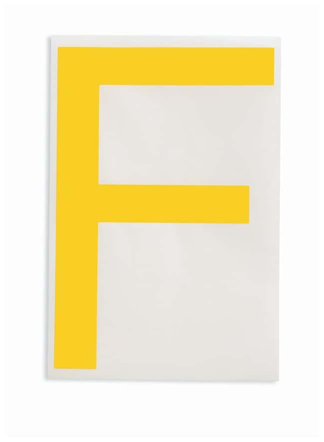 Brady ToughStripe Die-Cut Floor Marking Letter F Color: Yellow:Racks, Boxes,