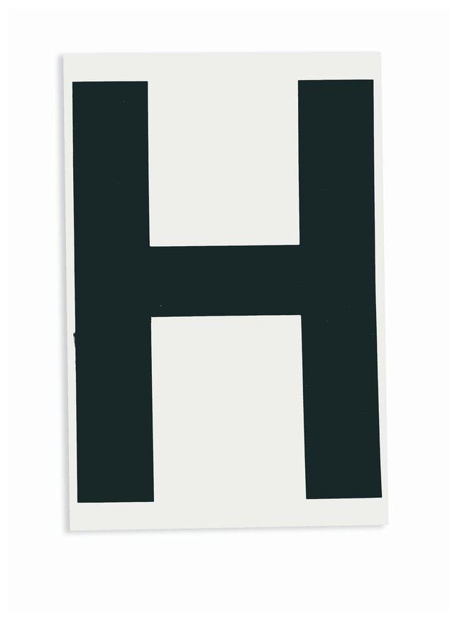 Brady ToughStripe Die-Cut Floor Marking Letter H Color: Black:Racks, Boxes,