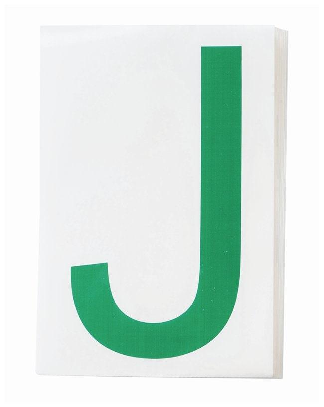Brady ToughStripe Die-Cut Floor Marking Letter J Color: Green:Racks, Boxes,