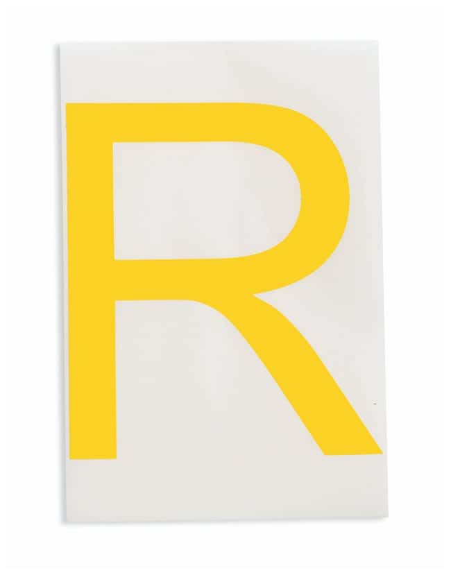 Brady ToughStripe Die-Cut Floor Marking Letter R Color: Yellow:Racks, Boxes,