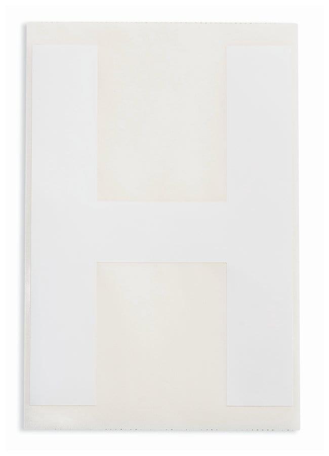 Brady ToughStripe Die-Cut Floor Marking Letter H Color: White:Racks, Boxes,