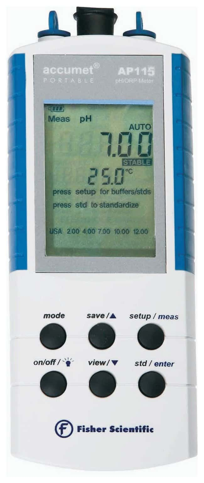 Fisherbrand™pH-mètre portatif accumet™AP115 Instrument de mesure accumet AP115 uniquement pH-mètres portatifs
