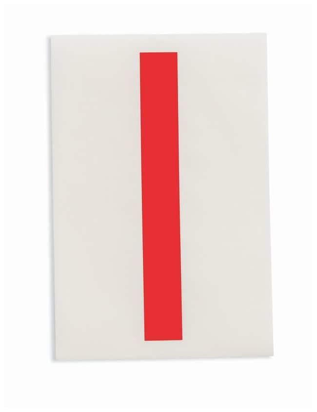 Brady ToughStripe Die-Cut Floor Marking Letter I Color: Red:Racks, Boxes,