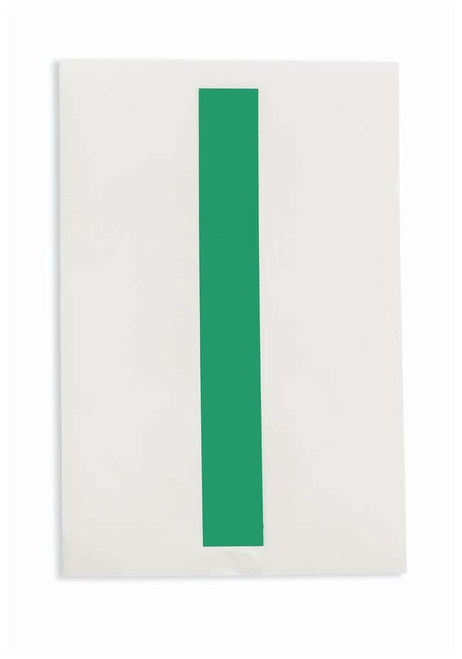 Brady ToughStripe Die-Cut Floor Marking Letter I Color: Green:Racks, Boxes,