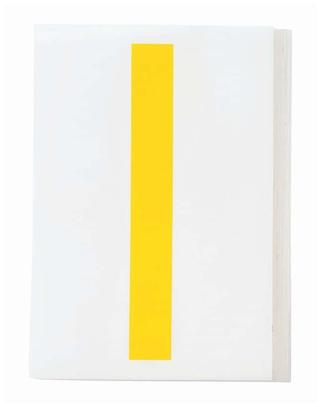 Brady ToughStripe Die-Cut Floor Marking Letter I Color: Yellow:Racks, Boxes,