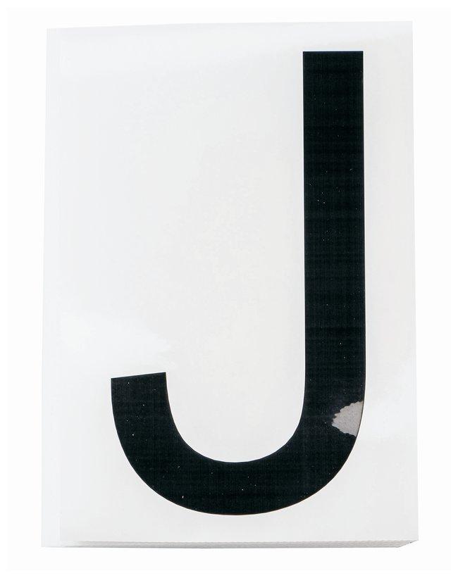 Brady ToughStripe Die-Cut Floor Marking Letter J Color: Black:Racks, Boxes,