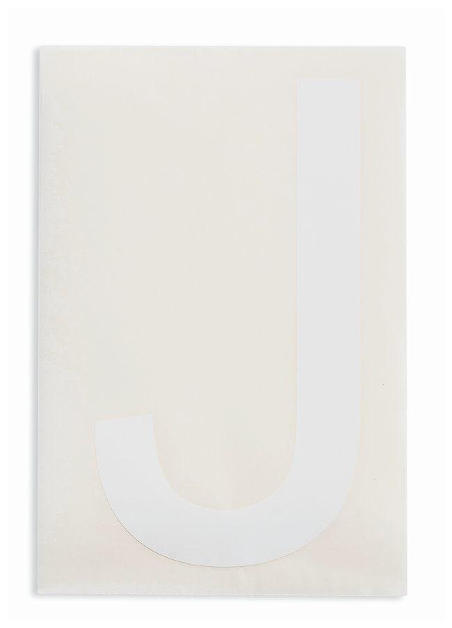 Brady ToughStripe Die-Cut Floor Marking Letter J Color: White:Racks, Boxes,