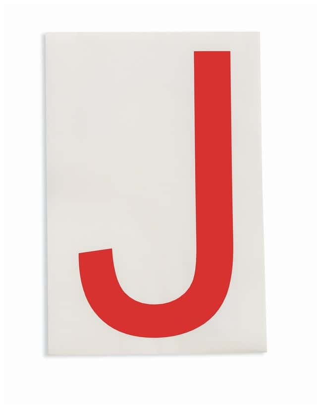 Brady ToughStripe Die-Cut Floor Marking Letter J Color: Red:Racks, Boxes,