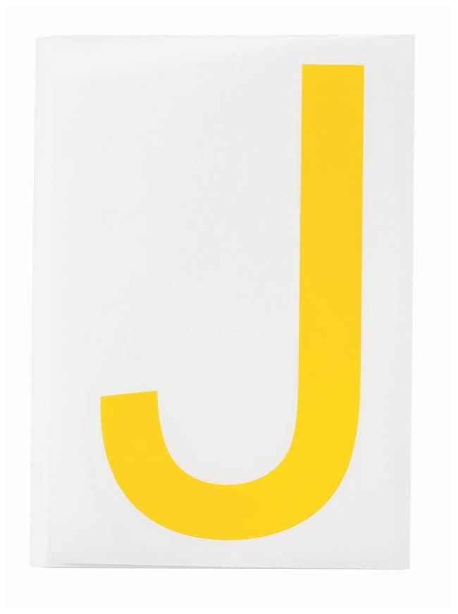 Brady ToughStripe Die-Cut Floor Marking Letter J Color: Yellow:Racks, Boxes,