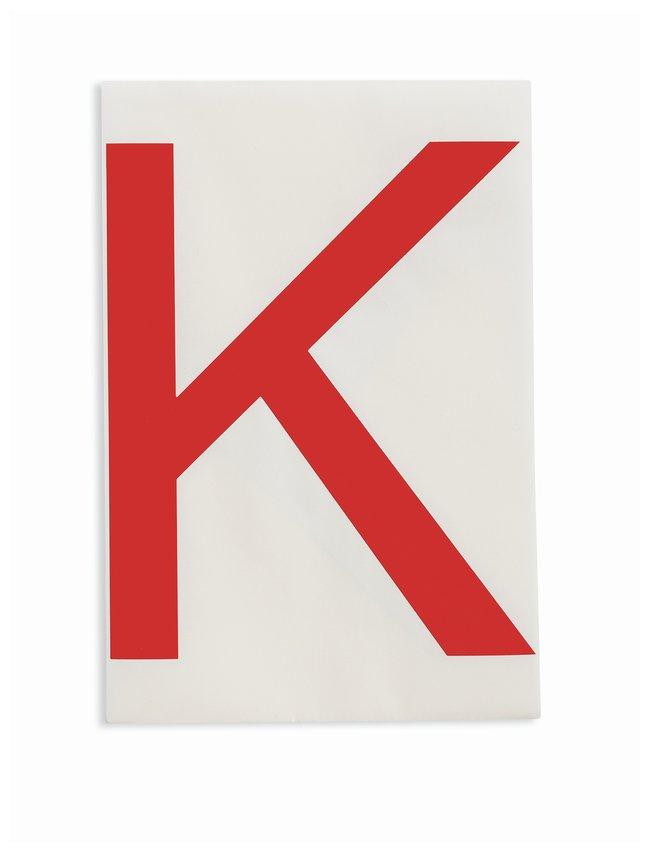 Brady ToughStripe Die-Cut Floor Marking Letter K Color: Red:Racks, Boxes,
