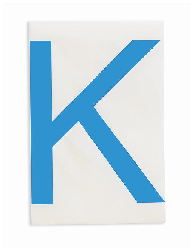Brady ToughStripe Die-Cut Floor Marking Letter K Color: Blue:Racks, Boxes,