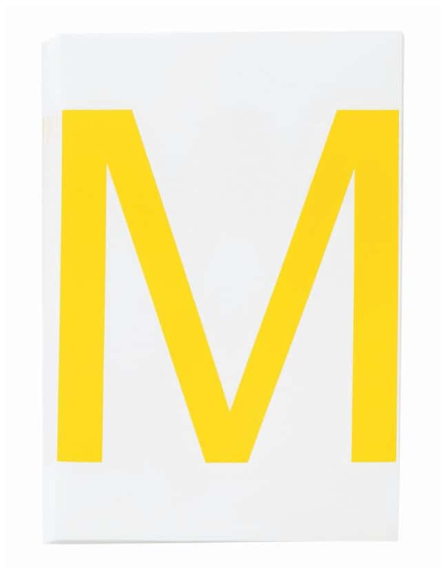 Brady ToughStripe Die-Cut Floor Marking Letter M Color: Yellow:Racks, Boxes,