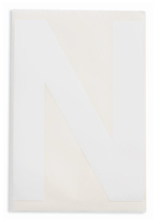 Brady ToughStripe Die-Cut Floor Marking Letter N Color: White:Racks, Boxes,