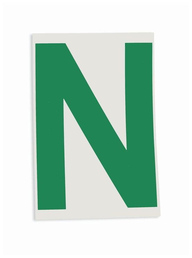 Brady ToughStripe Die-Cut Floor Marking Letter N Color: Green:Racks, Boxes,