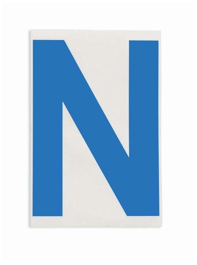 Brady ToughStripe Die-Cut Floor Marking Letter N Color: Blue:Racks, Boxes,
