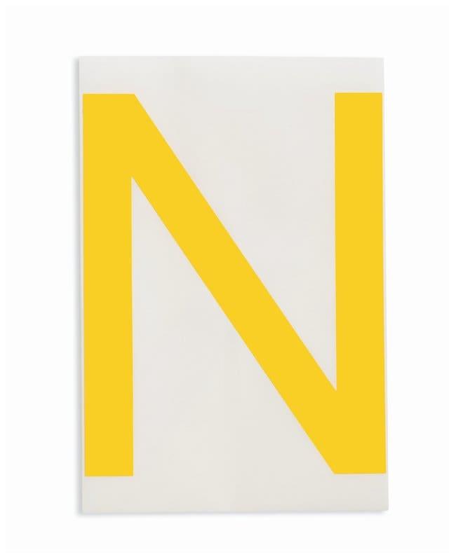 Brady ToughStripe Die-Cut Floor Marking Letter N Color: Yellow:Racks, Boxes,
