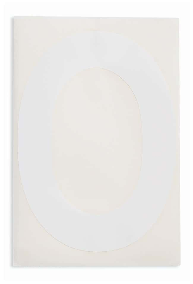 Brady ToughStripe Die-Cut Floor Marking Letter O Color: White:Racks, Boxes,
