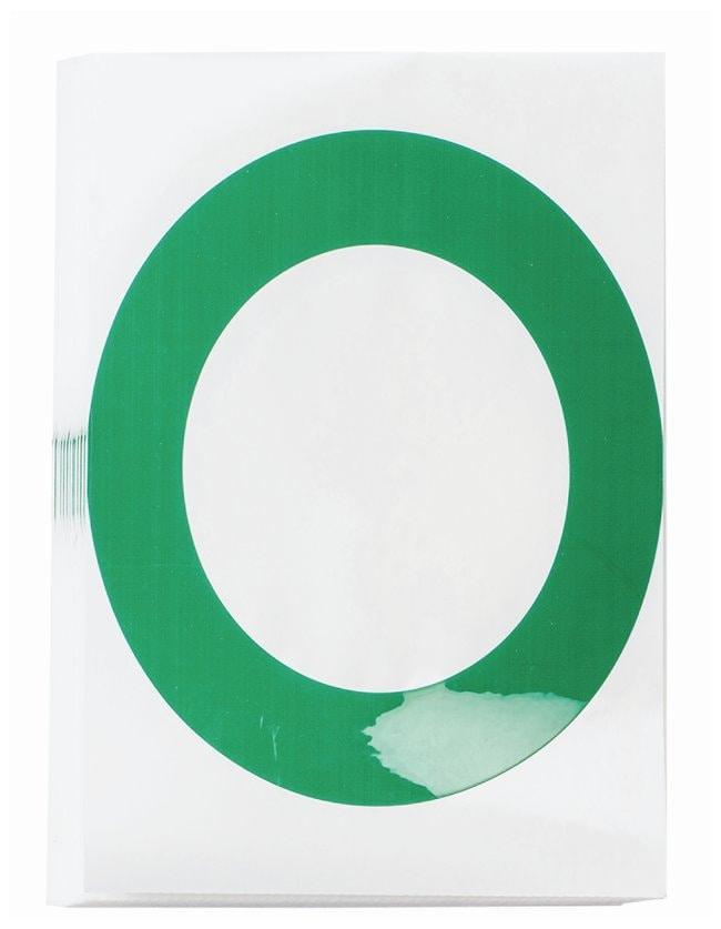 Brady ToughStripe Die-Cut Floor Marking Letter O Color: Green:Racks, Boxes,