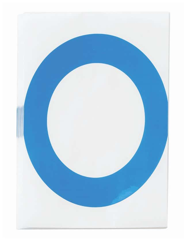Brady ToughStripe Die-Cut Floor Marking Letter O Color: Blue:Racks, Boxes,
