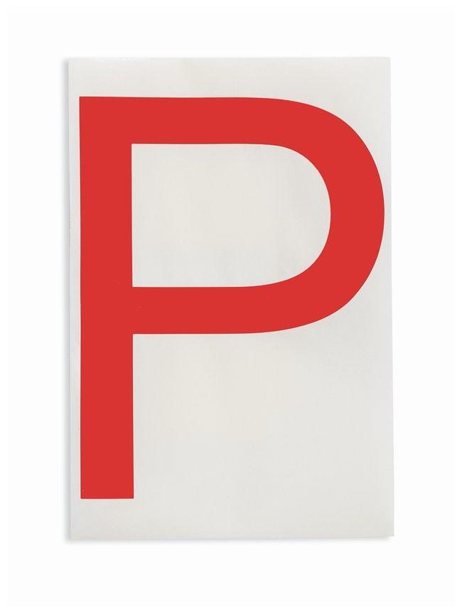 Brady ToughStripe Die-Cut Floor Marking Letter P Color: Red:Racks, Boxes,