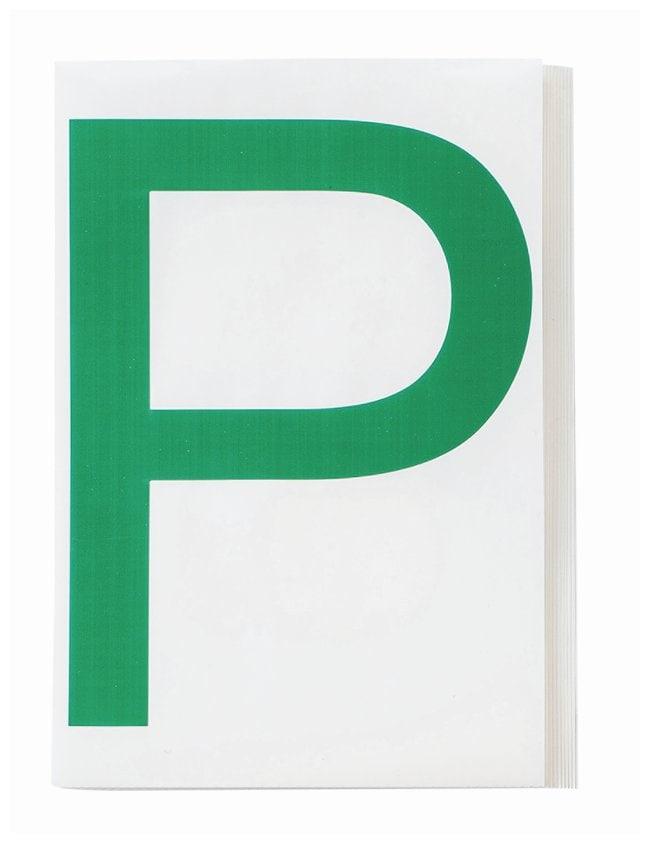 Brady ToughStripe Die-Cut Floor Marking Letter P Color: Green:Racks, Boxes,