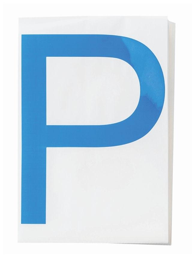 Brady ToughStripe Die-Cut Floor Marking Letter P Color: Blue:Racks, Boxes,