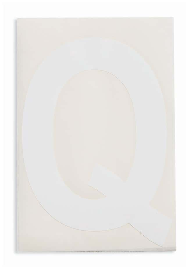 Brady ToughStripe Die-Cut Floor Marking Letter Q Color: White:Racks, Boxes,