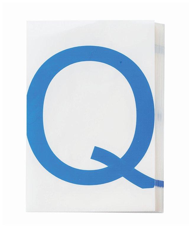 Brady ToughStripe Die-Cut Floor Marking Letter Q Color: Blue:Racks, Boxes,