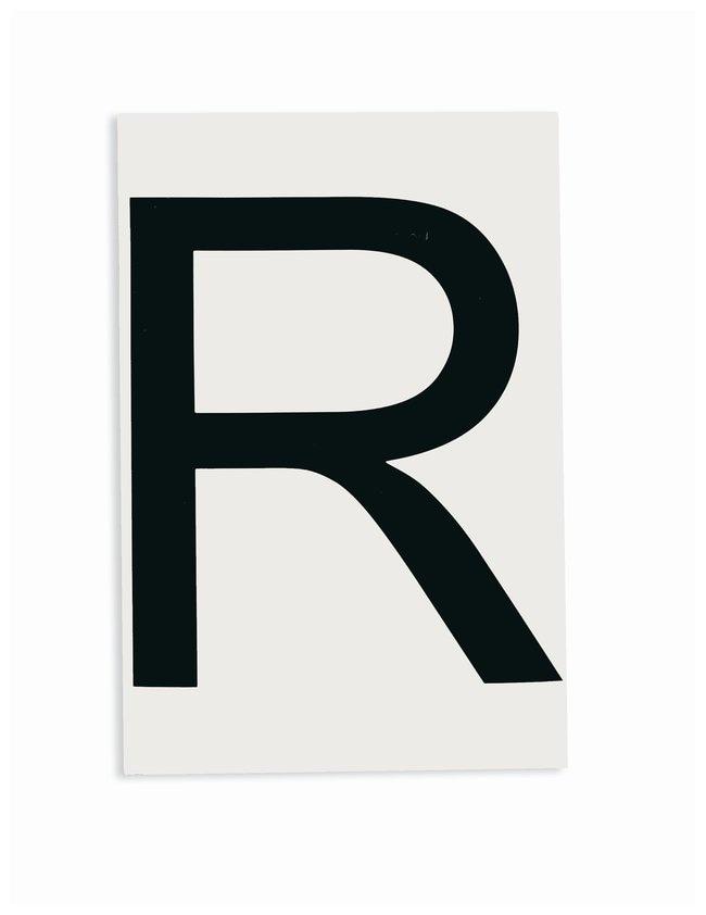 Brady ToughStripe Die-Cut Floor Marking Letter R Color: Black:Racks, Boxes,