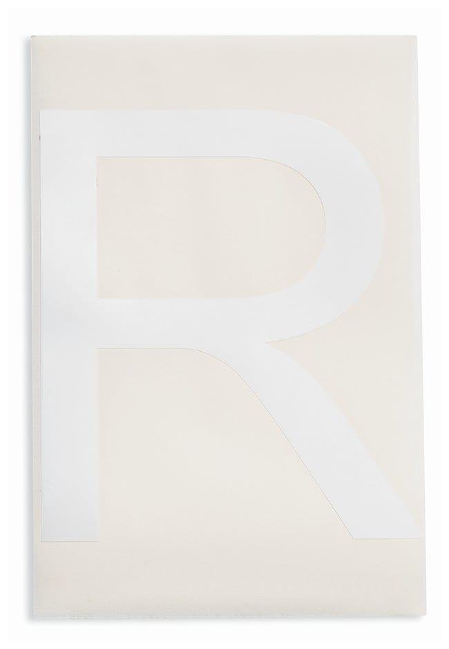 Brady ToughStripe Die-Cut Floor Marking Letter R Color: White:Racks, Boxes,