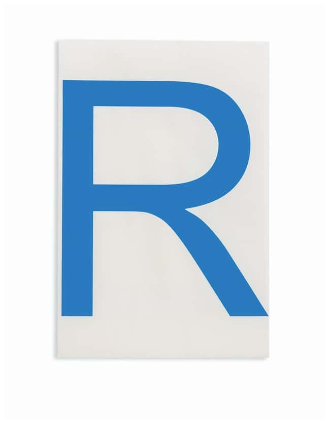 Brady ToughStripe Die-Cut Floor Marking Letter R Color: Blue:Racks, Boxes,